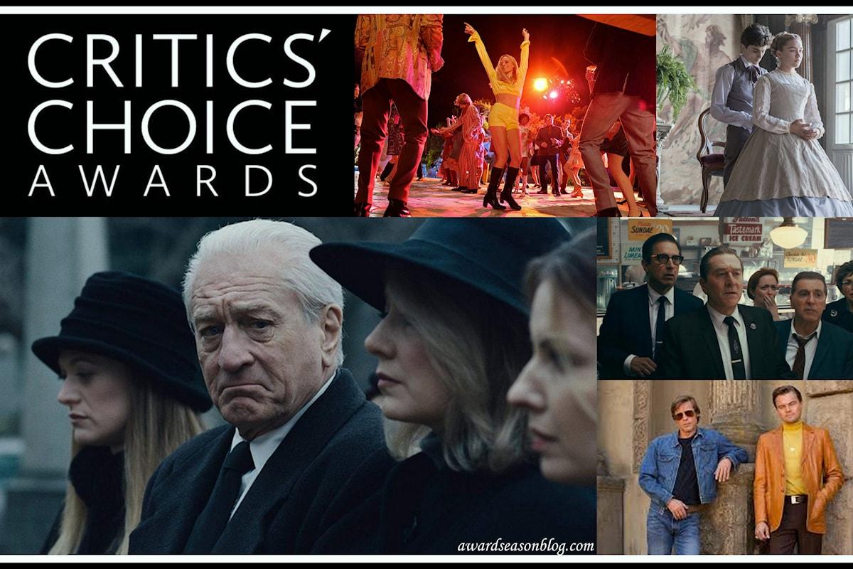 The Irishman di Martin Scorsese conquista 14 candidature ai Critics' Choice Awards