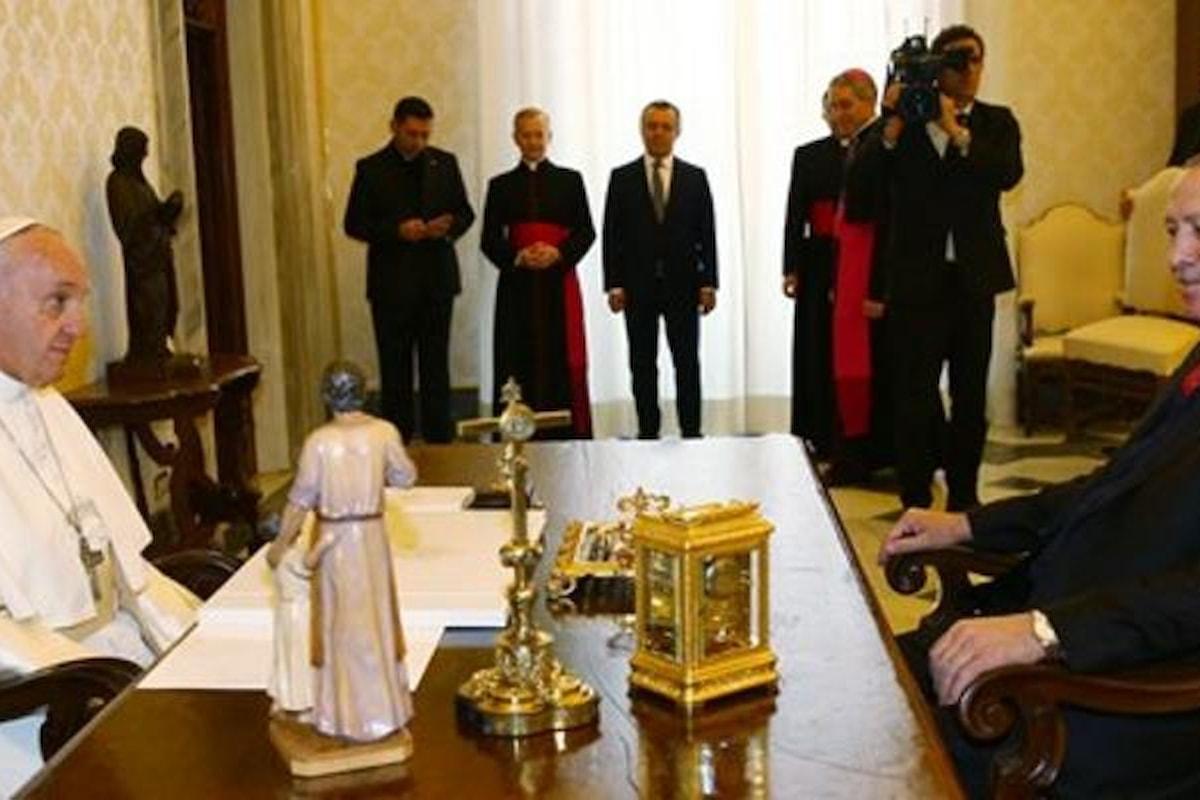 Erdogan ricevuto in udienza da Papa Francesco
