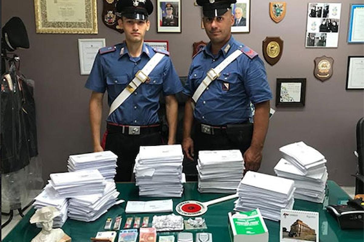 Pusher postino in manette nel salernitano per detenzione di droga e sottrazione di corrispondenza