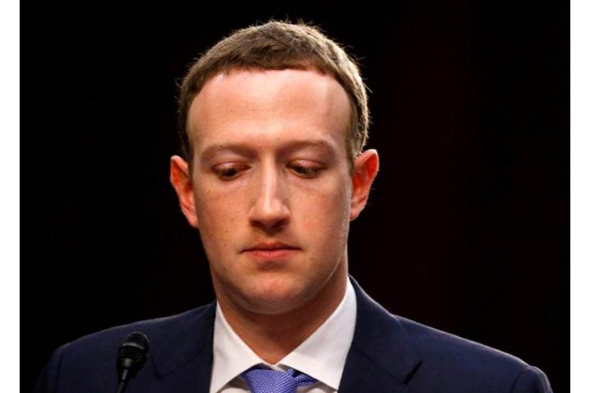 Zuckerberg, martedì davanti al Parlamento europeo