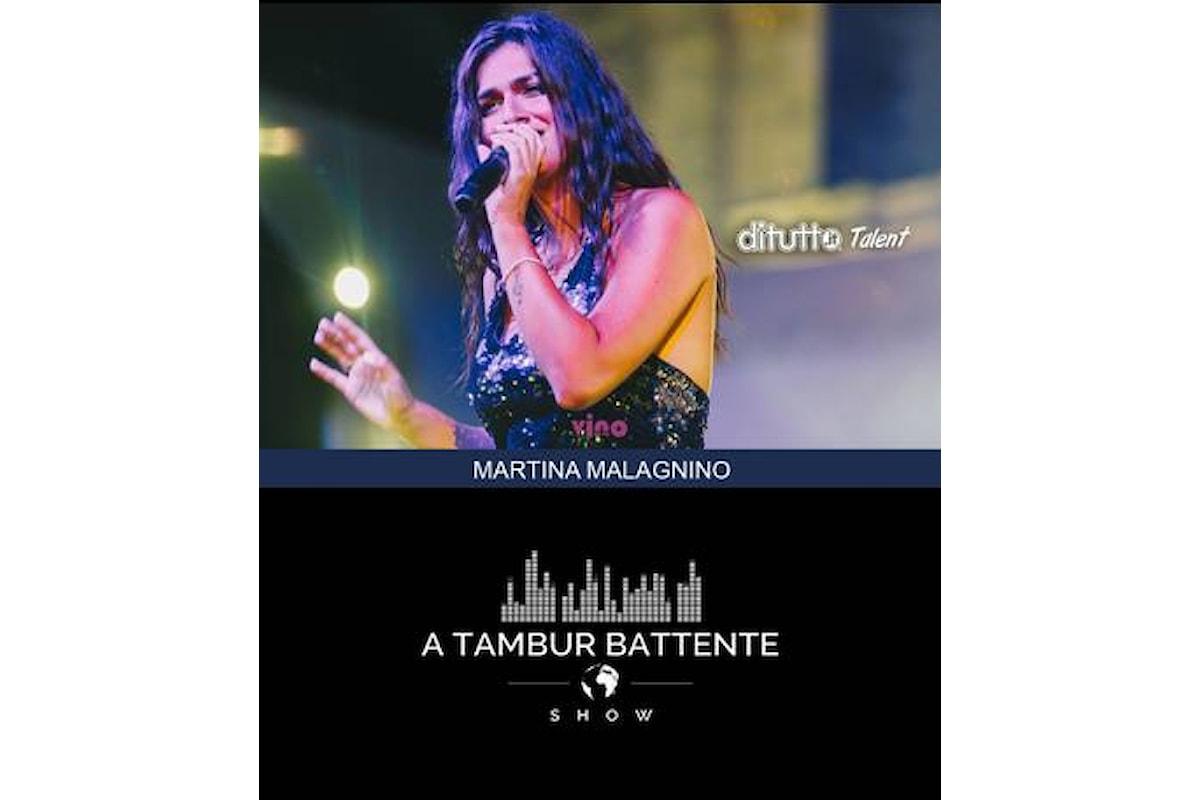DiTutto, Martina Malagnino ospite nel programma TV A Tambur Battente