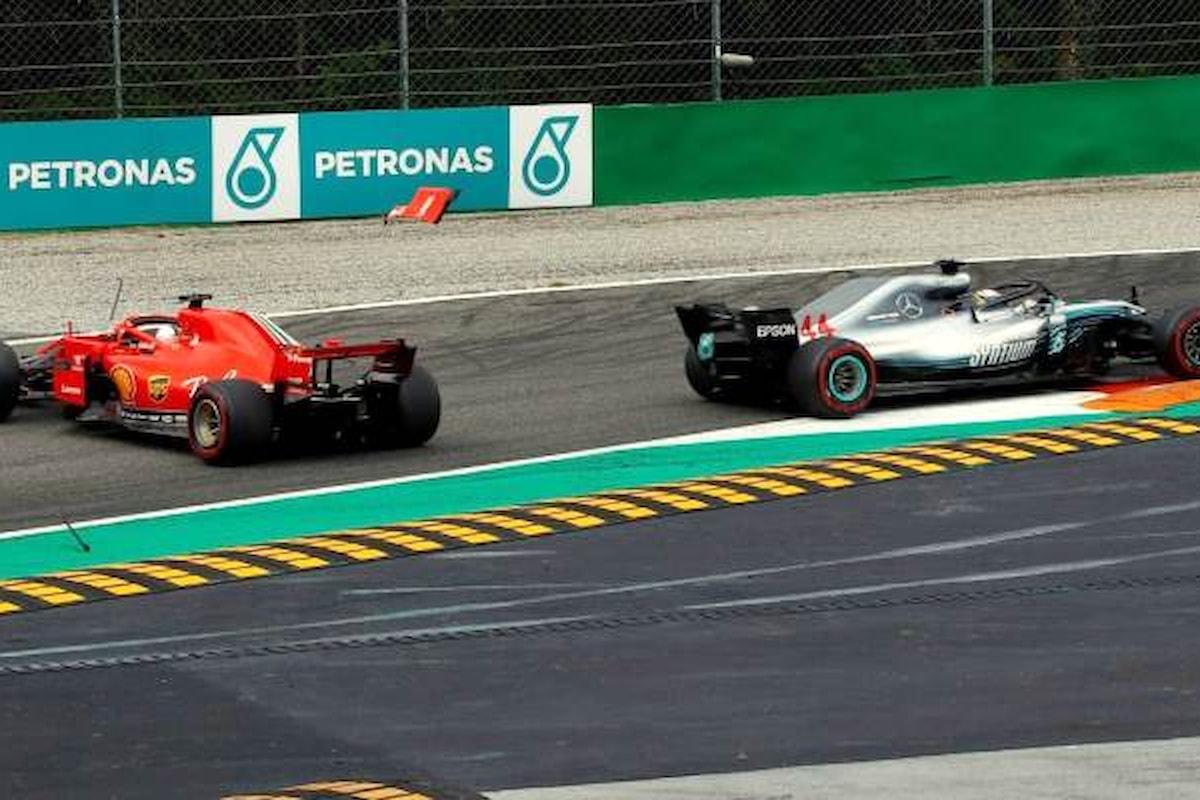 Formula 1, a Monza follia di Vettel ed Hamilton ne approfitta