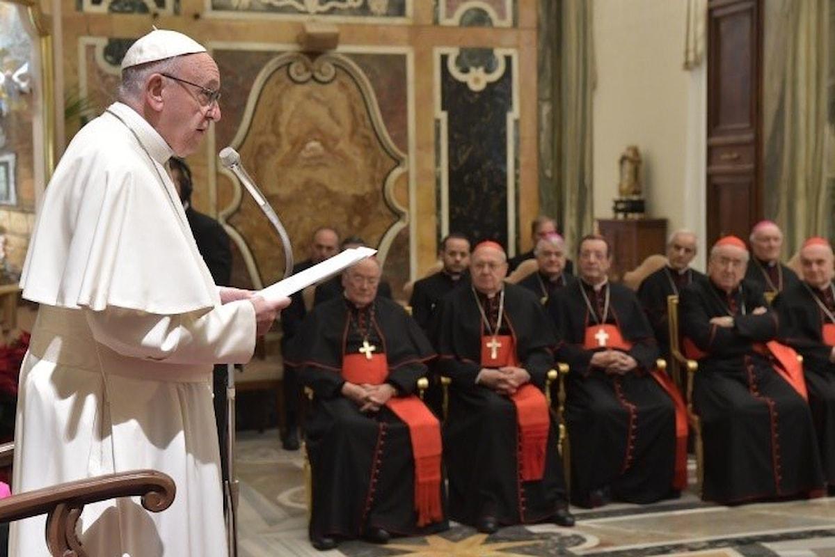 Vanagloria, ambizione, tradimento... gli auguri natalizi di Papa Francesco alla Curia Romana
