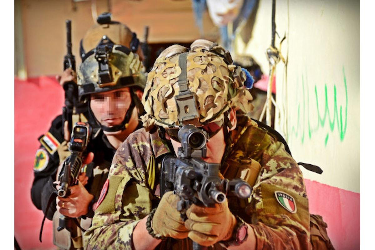 Iraq, militari italiani terminano addestramento forze armate irachene a difesa diga di Mosul