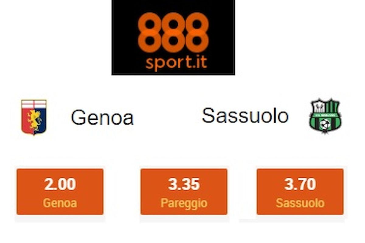 Genoa-Sassuolo, dalle quote fiducia a Juric