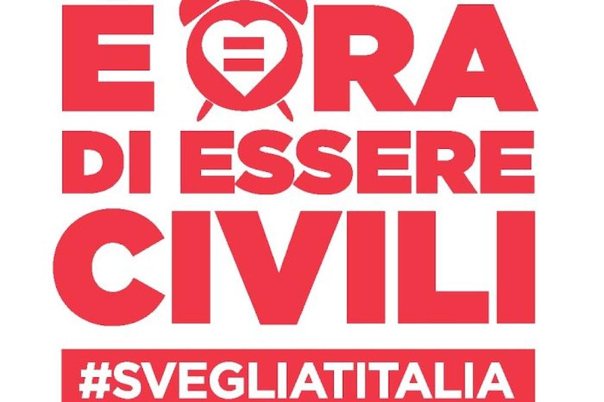 Svegliati Italia, la manifestazione nelle piazze italiane per le unioni civili