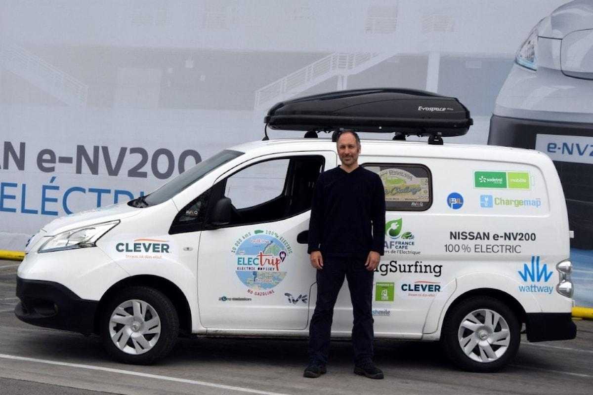 Al via l'electric tour a bordo di una Nissan e-NV200