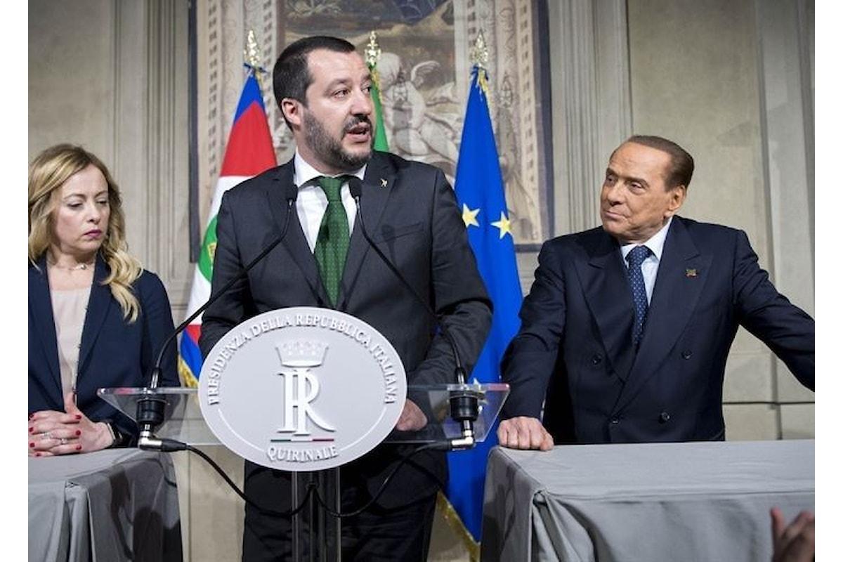 Berlusconi ha condotto per mano il candidato premier del centrodestra Salvini a parlare con Mattarella