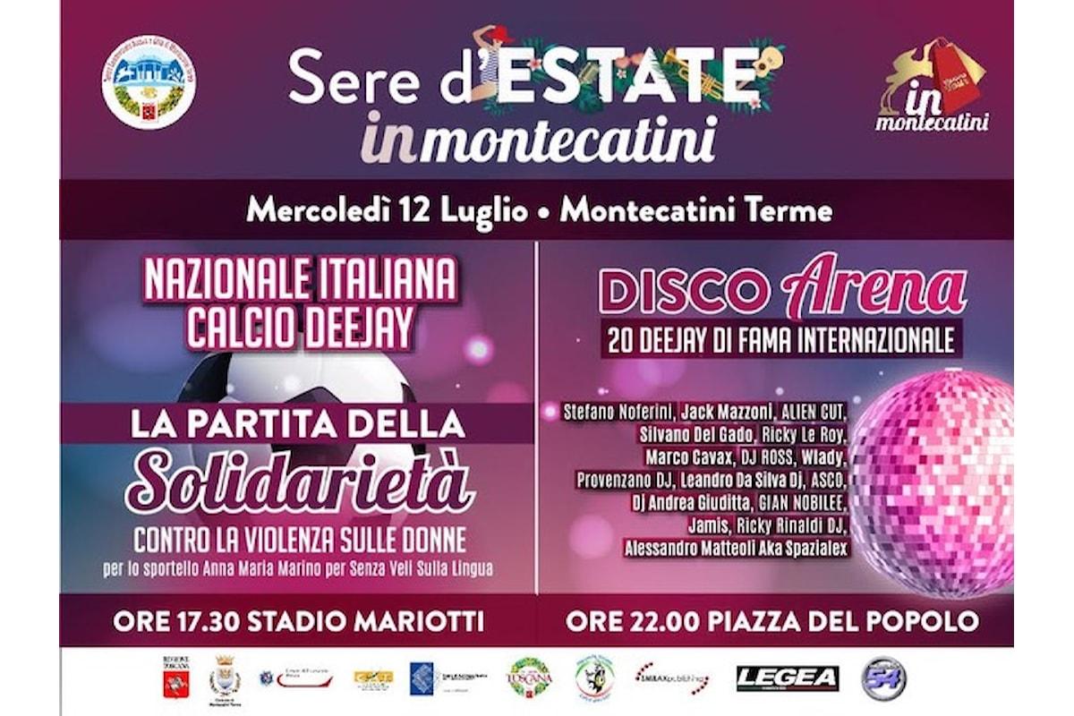 12 luglio, la Nazionale Dj in campo a Montecatini in una partita di beneficenza contro il femminicidio