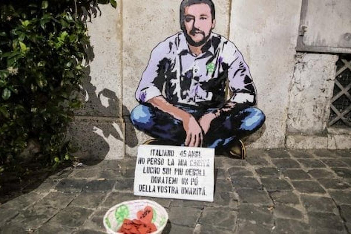 Salvini: l'immagine riflessa in un nuovo murales