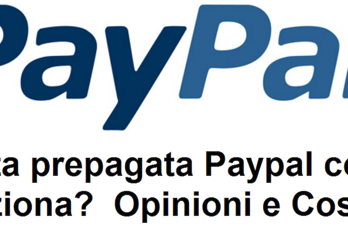 Come funziona la carta paypal online?