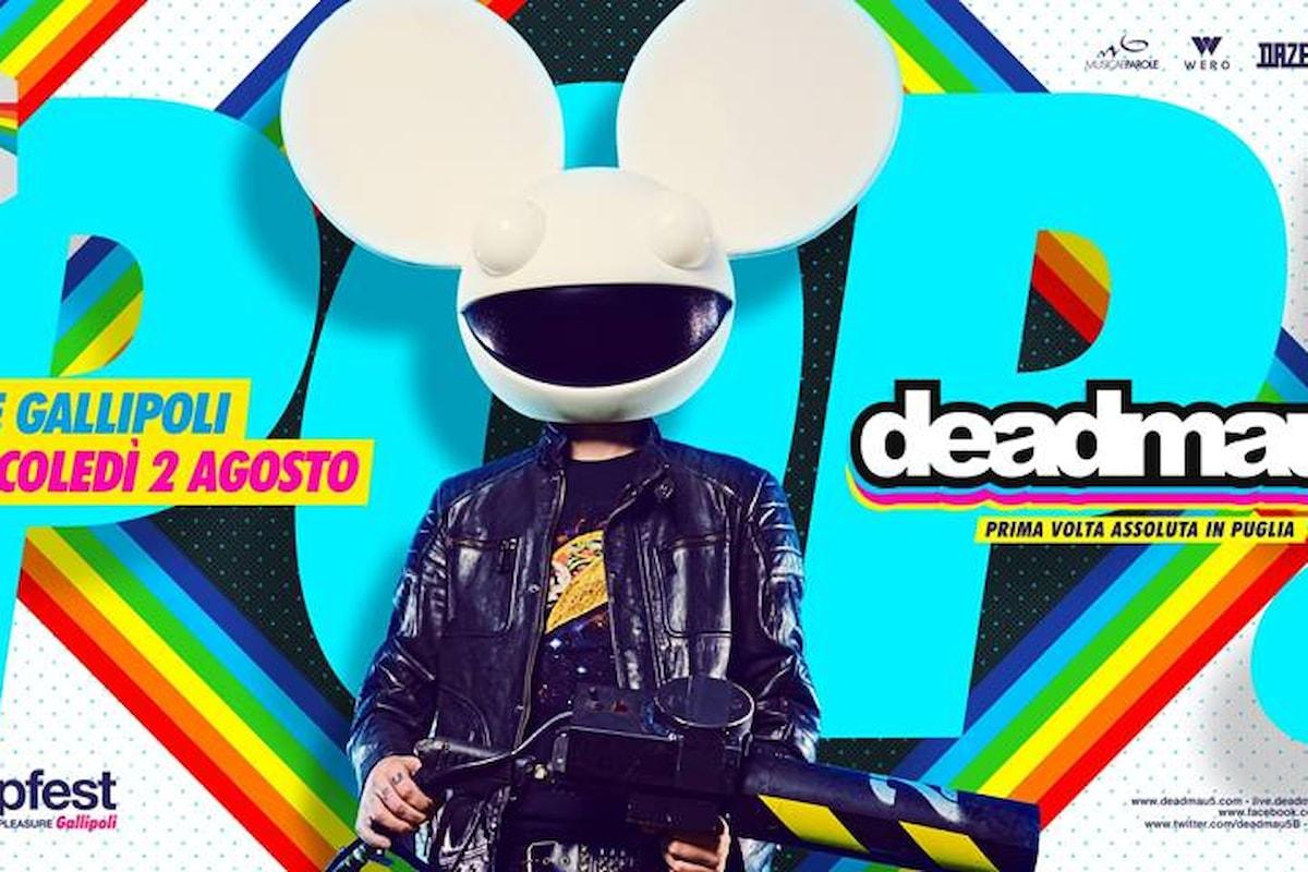 2 agosto, Deadmau5 al PopFest - People on Pleasure c/o Cave - Gallipoli