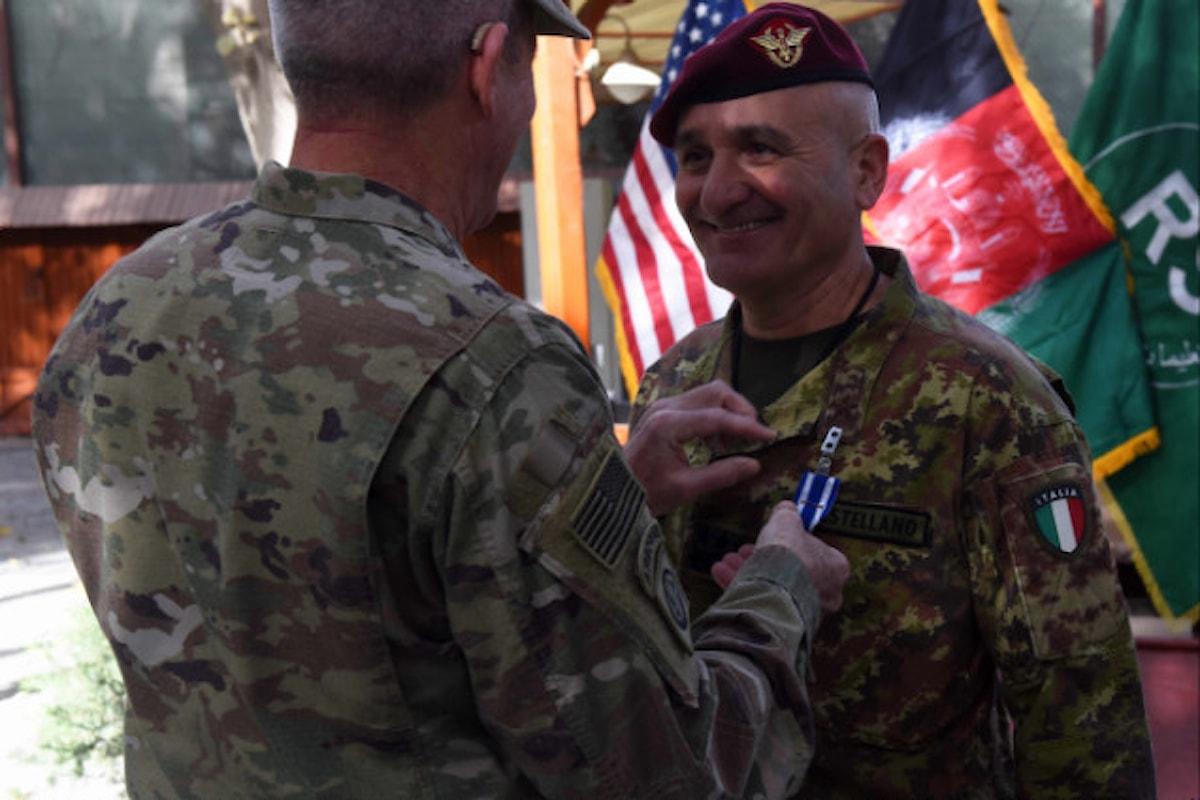 Afghanistan, il Generale Castellano lascia l'incarico nella missione Resolute Support