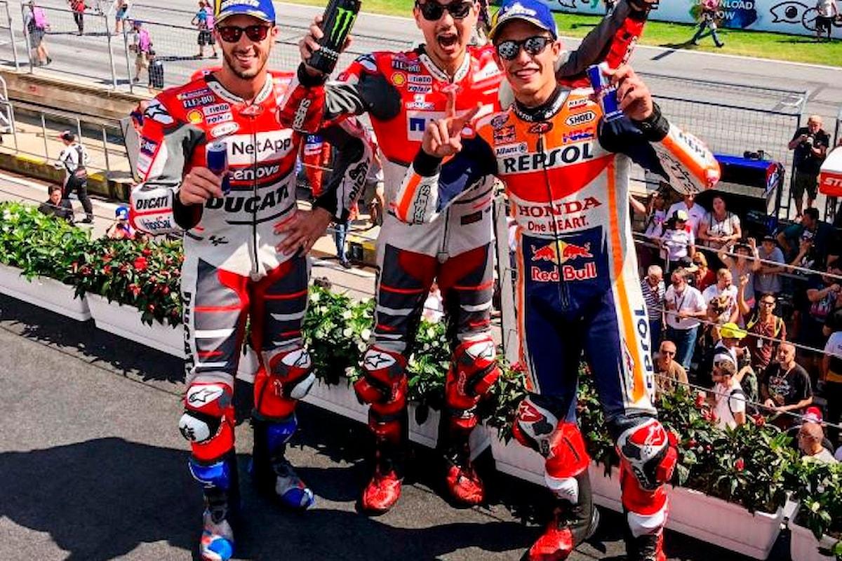 MotoGP 2018. a Spielberg Lorenzo c'è, secondo Marquez, Dovizioso terzo