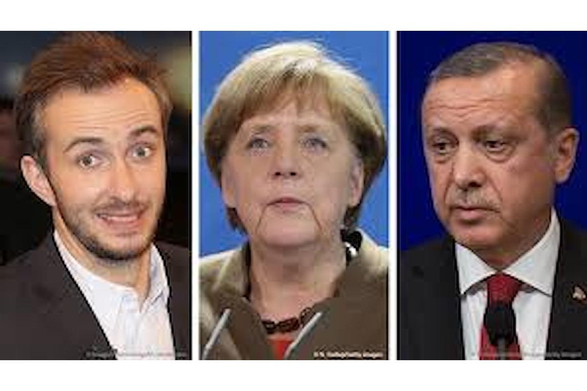 Via libera della Merkel all'accusa contro il comico che ha offeso Erdogan