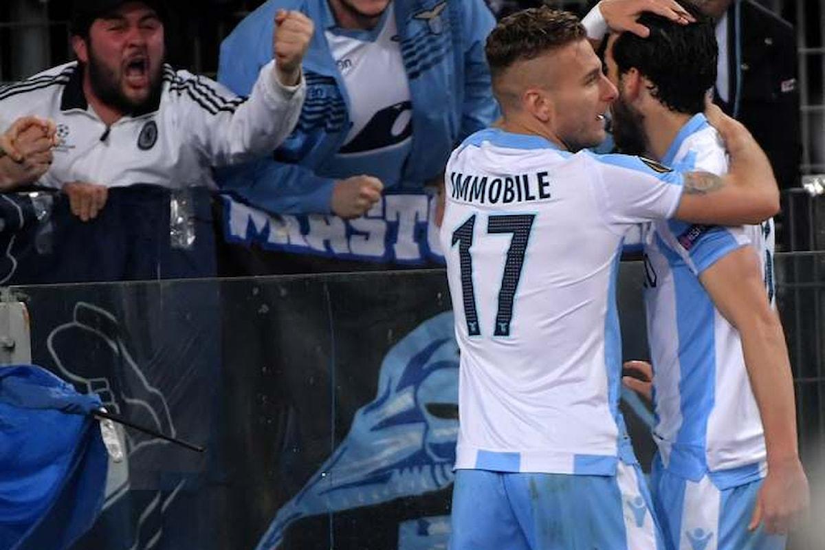 La Lazio vince 4-2 sul Salisburgo nell'andata dei quarti di Europa League. Il commento di Inzaghi