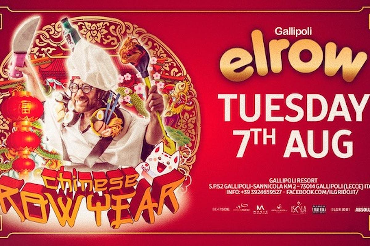 7 agosto, elrow Chinese Row Year fa ballare Gallipoli Resort by Musicaeparole