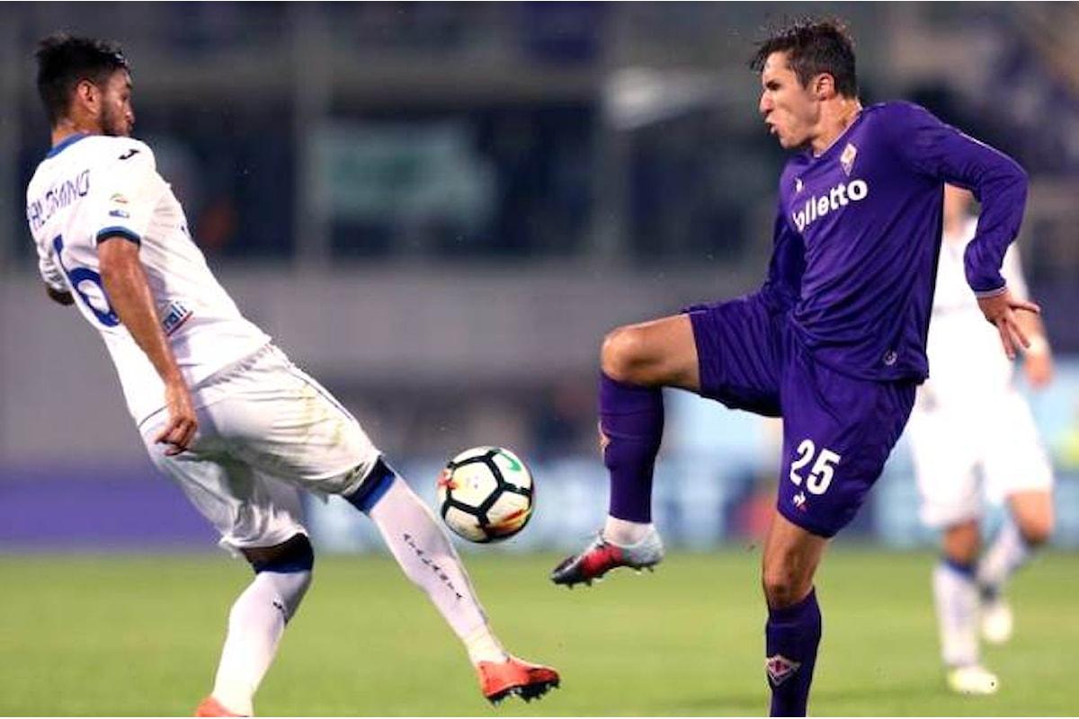 La Fiorentina risarcita dai torti di San Siro, ne fa le spese l'Atalanta sconfitta 2-0