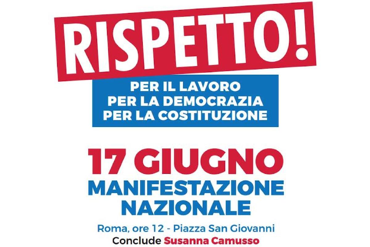 Il 17 giugno tutti in piazza, a Roma, per una questione di rispetto