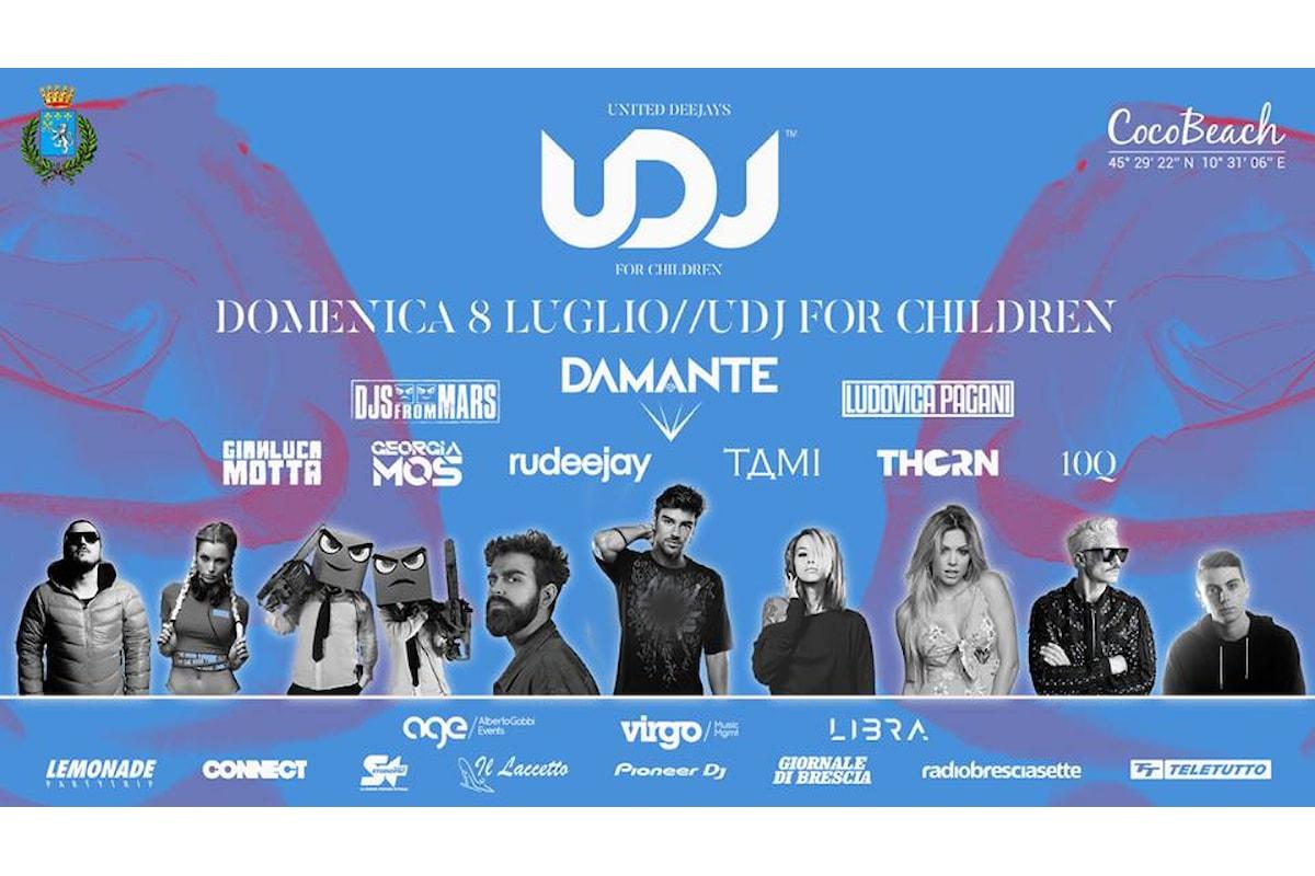8 luglio, UDJ - United Deejays For Children al Coco Beach di Lonato (BS): l'evento di beneficenza che fa ballare il Garda