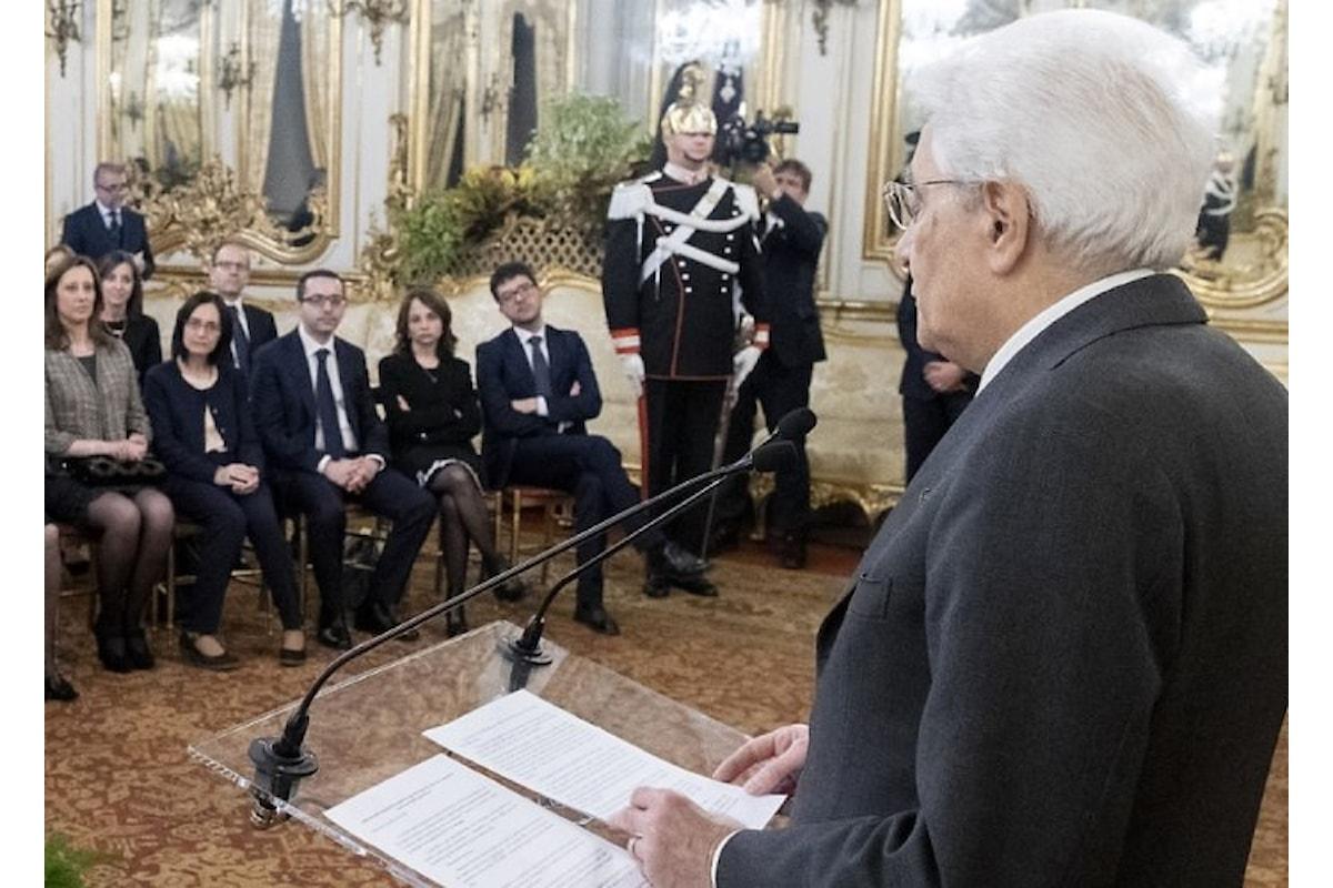 Mattarella: senza finanze pubbliche solide e stabili, impossibile tutelare i diritti sociali