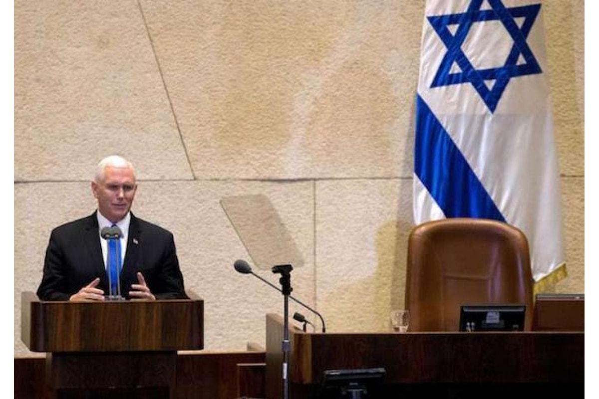 Pence in Israele. Il suo discorso alla Knesset benzina sul fuoco del conflitto tra israeliani e palestinesi