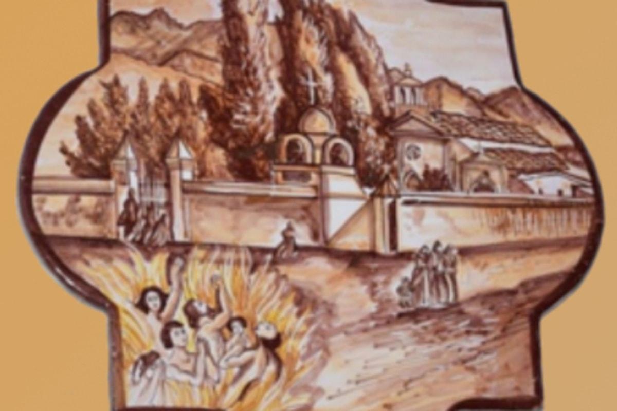 """""""I Decollati, Malviventi o Martiri"""", opera di Mariano Lanza in ricordo dei giustiziati nella Palermo del XXVIII secolo, accompagnato dalla Ceramica Artistica Siciliana di Patrizia Di Piazza"""