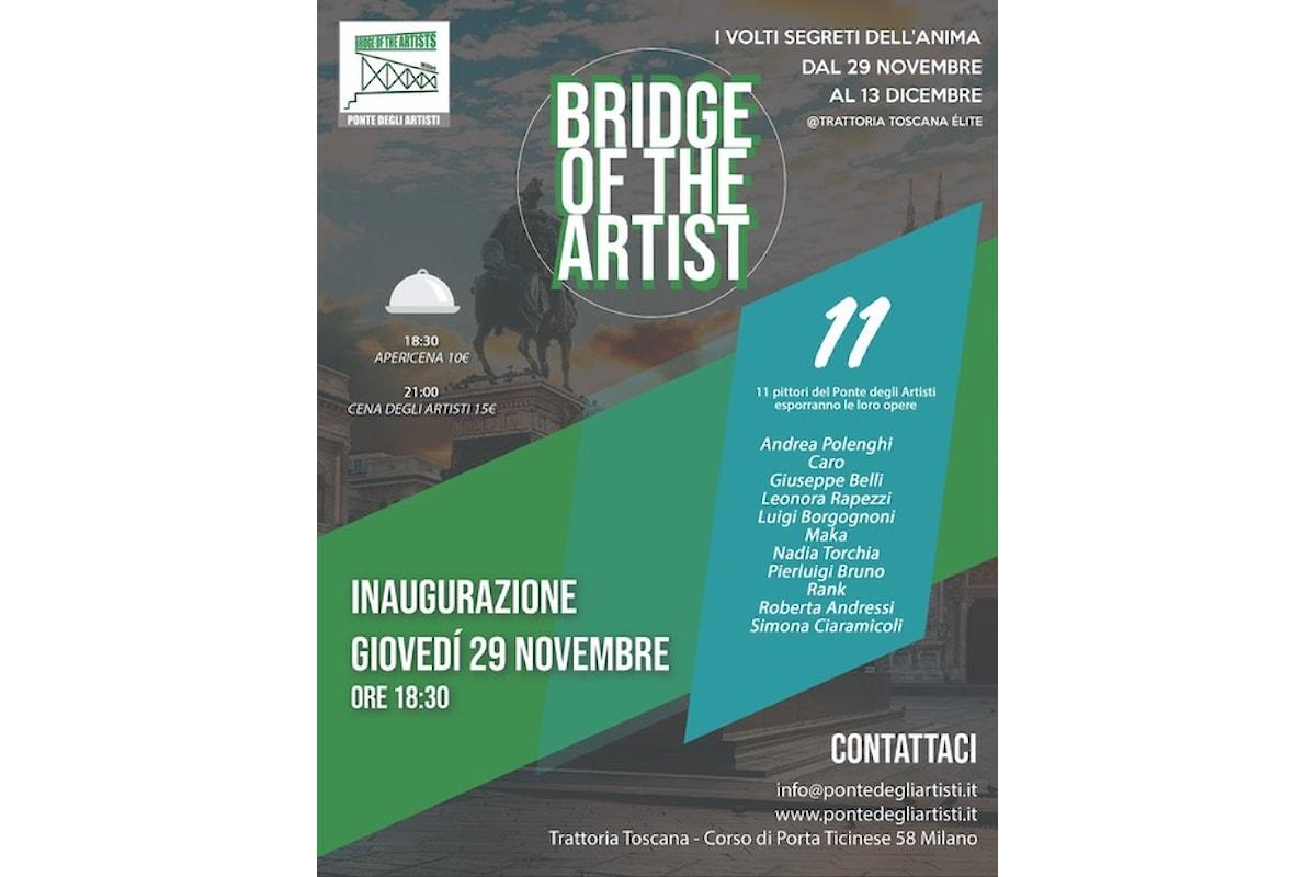 Dal 29/11 al 13/12 Bridge of the Artist presenta a Milano la mostra I Volti segreti dell'anima