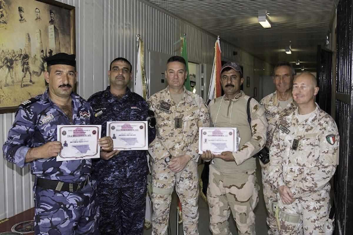 Iraq, militari della Brigata Sassari concludono il primo corso Combat Camera per soldati iracheni