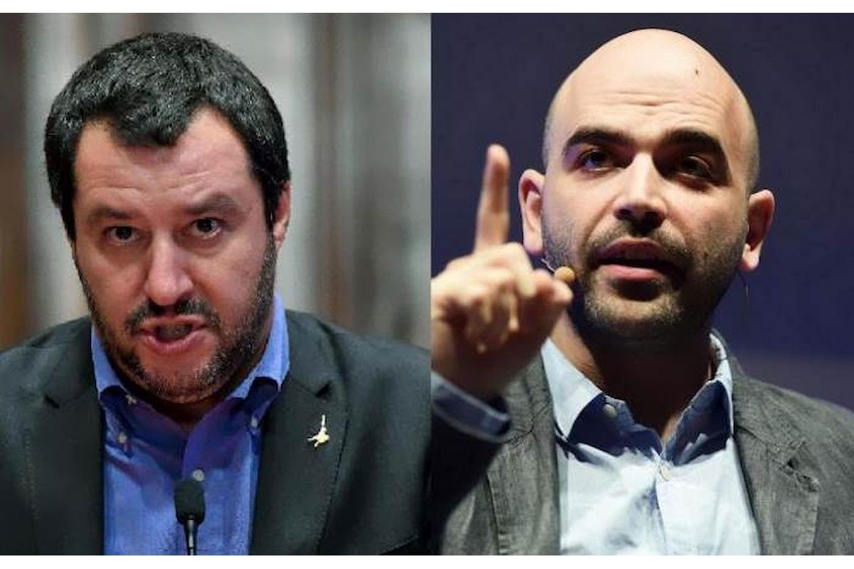 Salvini denuncia Saviano per averlo definito ministro della malavita, poi pubblica le dichiarazioni di un mafioso sul proprio profilo Facebook
