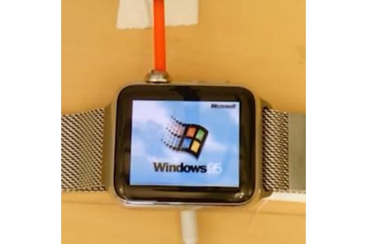 Apple Watch con le finestre colorate? Un programmatore riesce a farci girare Windows 95!