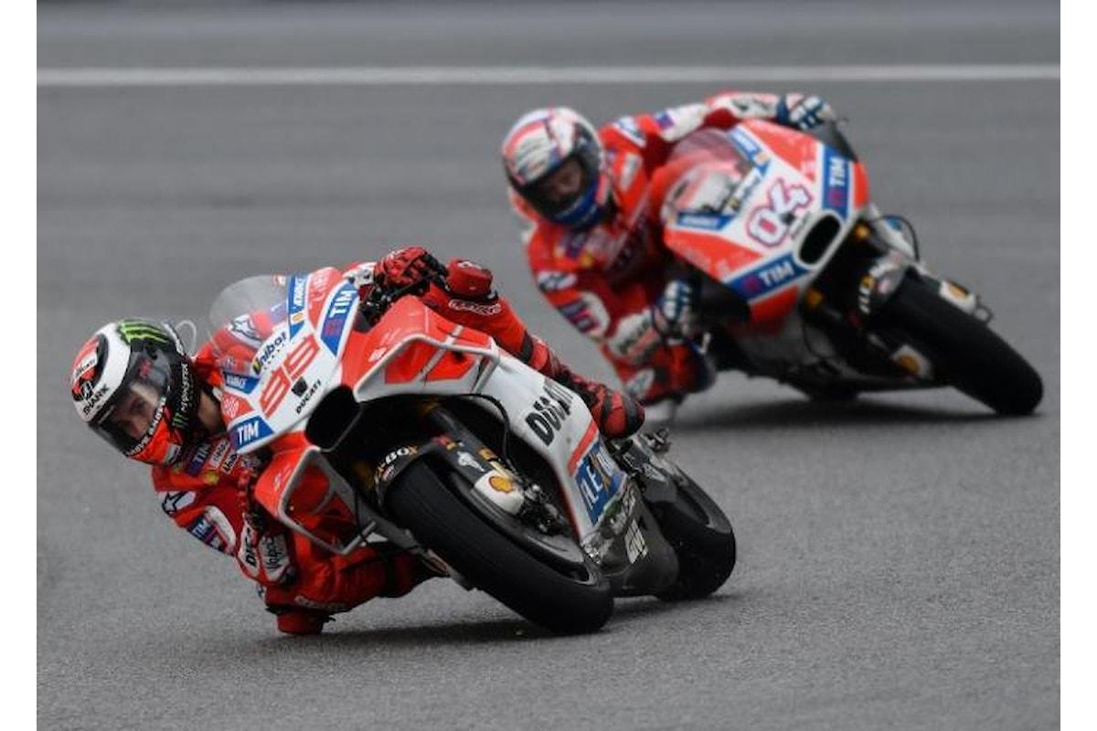 MotoGP, a Silverstone le due Ducati partiranno davanti a tutti. Non accadeva dal 2006