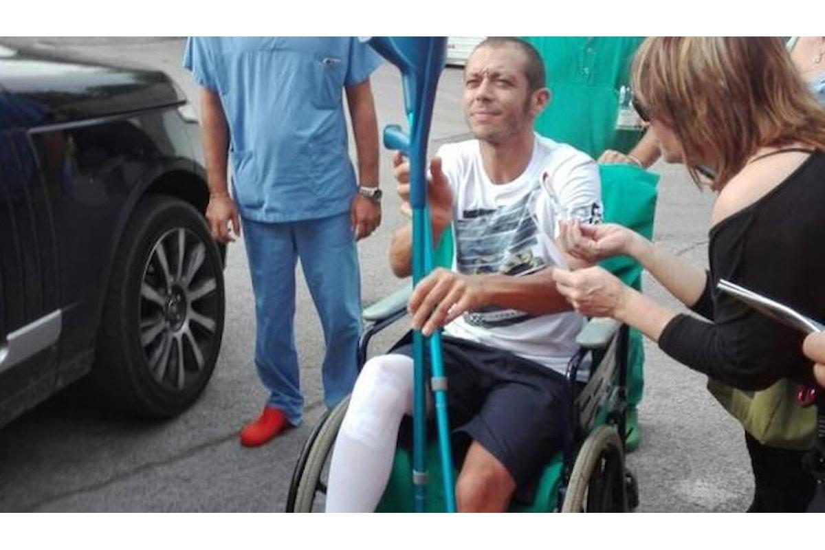 Valentino Rossi, rubata la sua radiografia dall'ospedale