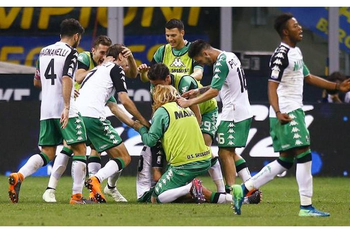 Il Sassuolo sbanca San Siro vincendo 2-1 contro l'Inter
