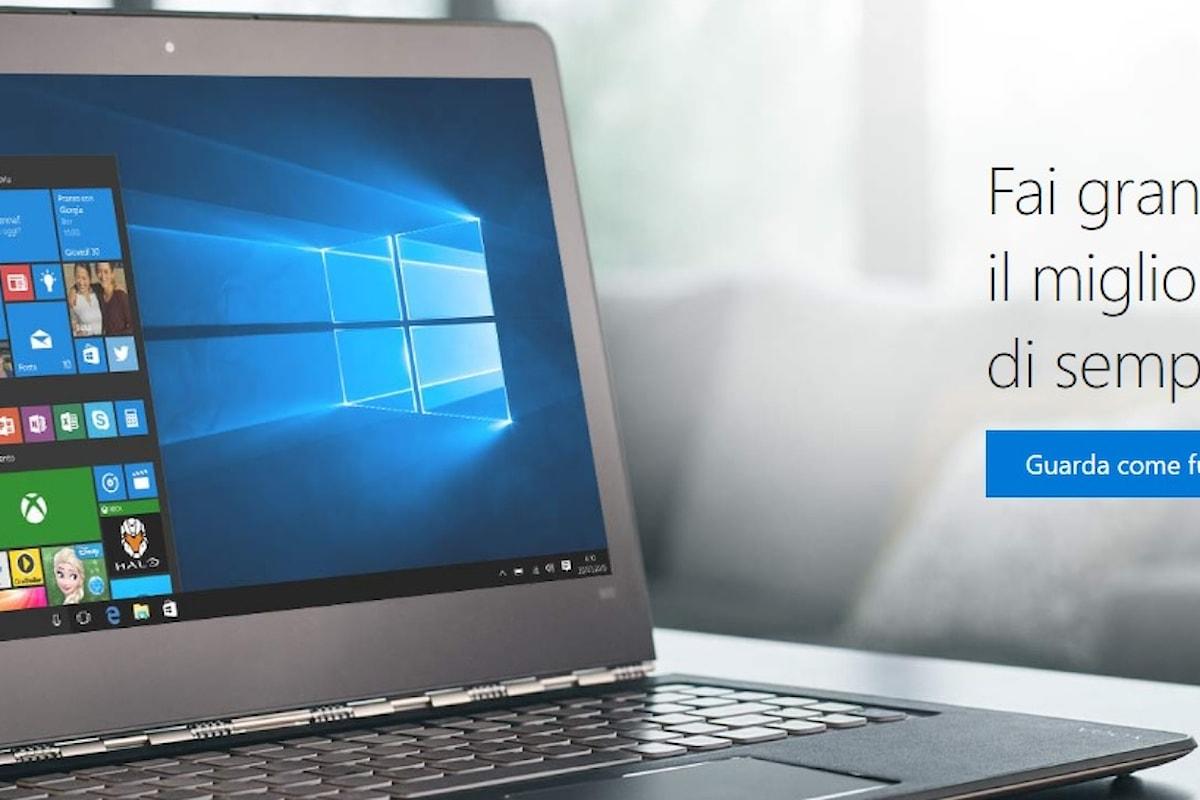 Windows 10, Microsoft annuncia il primo aggiornamento ad un anno dall'uscita.