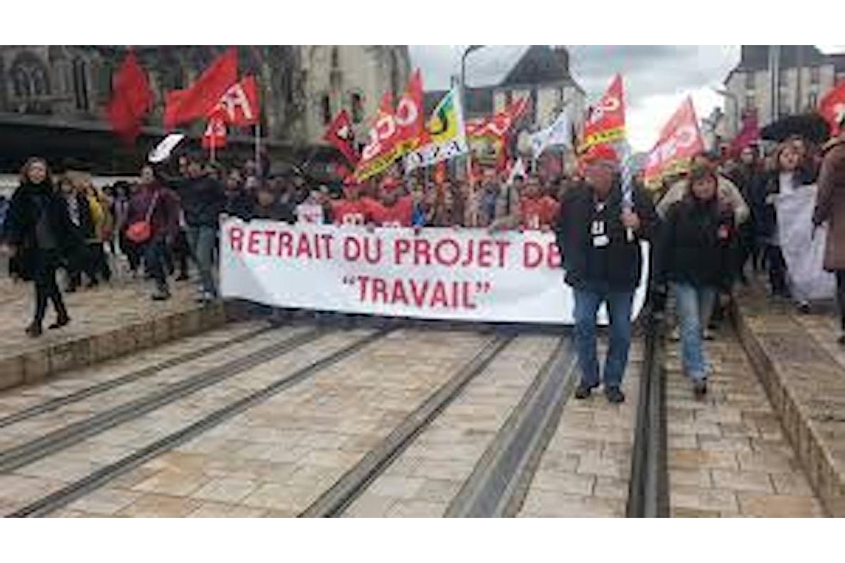 Sempre più duro in Francia lo scontro fra governo e sindacati sulla riforma del lavoro