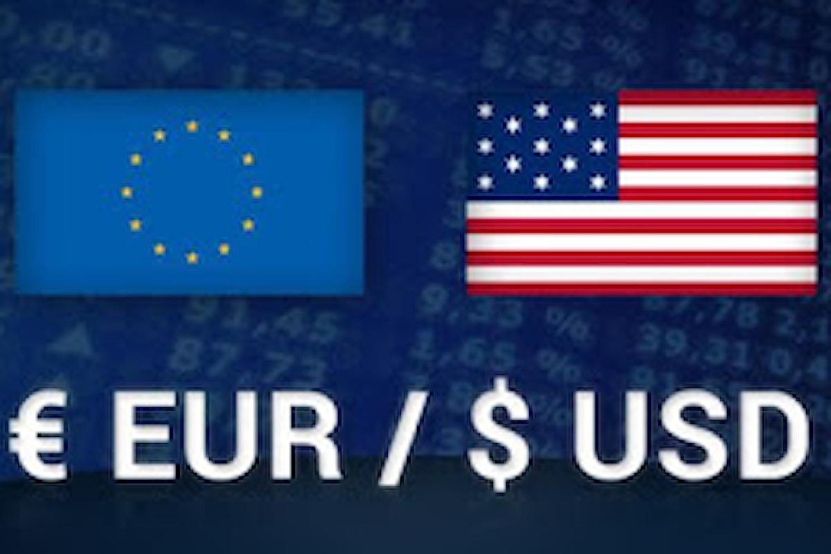 Trading, il cambio euro-dollaro continua a scendere