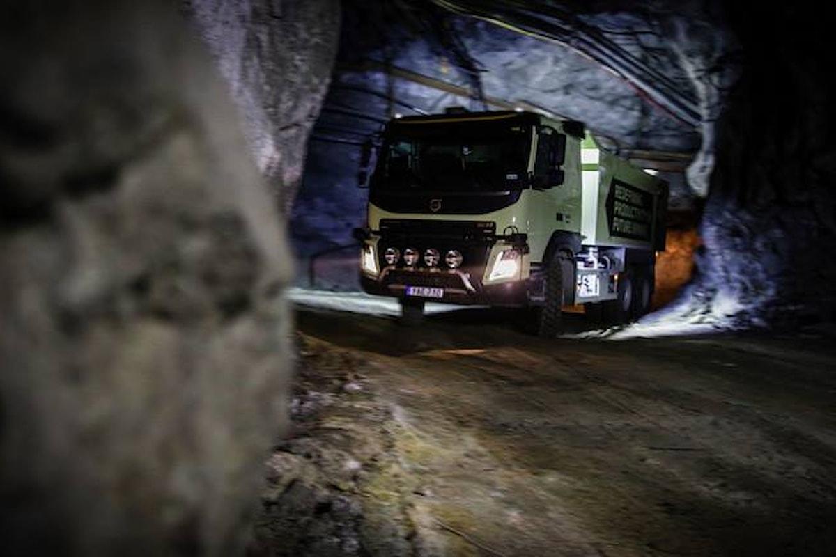 Volvo avvia i test di guida autonoma per i propri camion in una miniera