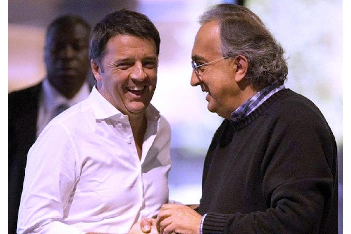 Oltre che a De Benedetti, Matteo Renzi chiedeva consigli anche a Marchionne