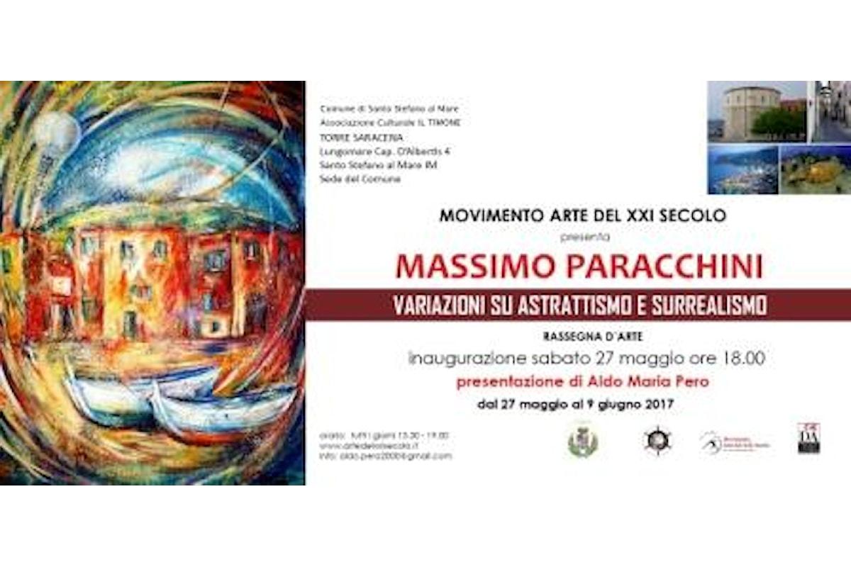Massimo Paracchini vince ed espone a Santo Stefano al Mare nella Torre Saracena