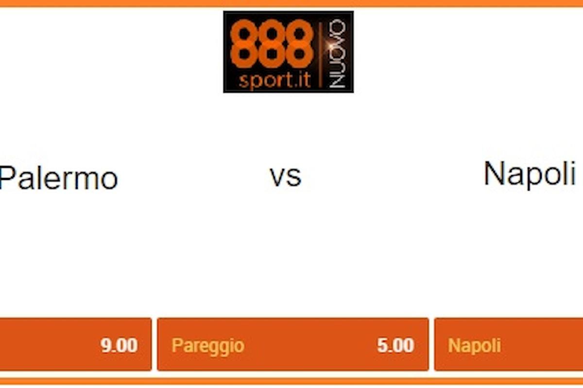 Serie A, Palermo-Napoli: per De Zerbi un debutto da 9,00