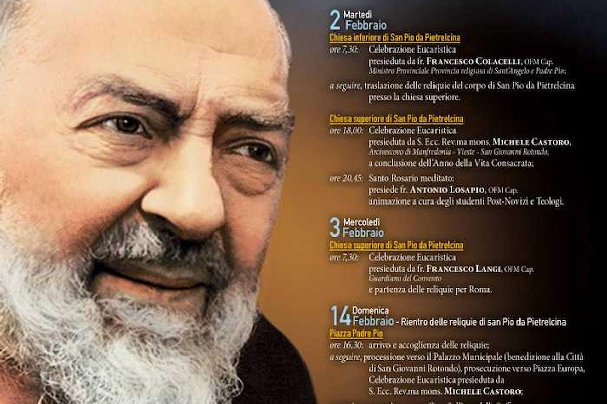 Traslazione delle reliquie di Padre Pio. Il programma completo a Roma