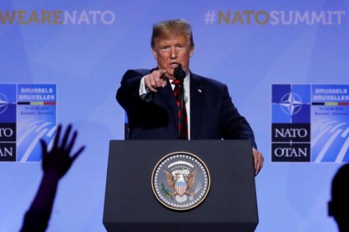 Ganassa Trump ha messo in riga gli alleati della Nato