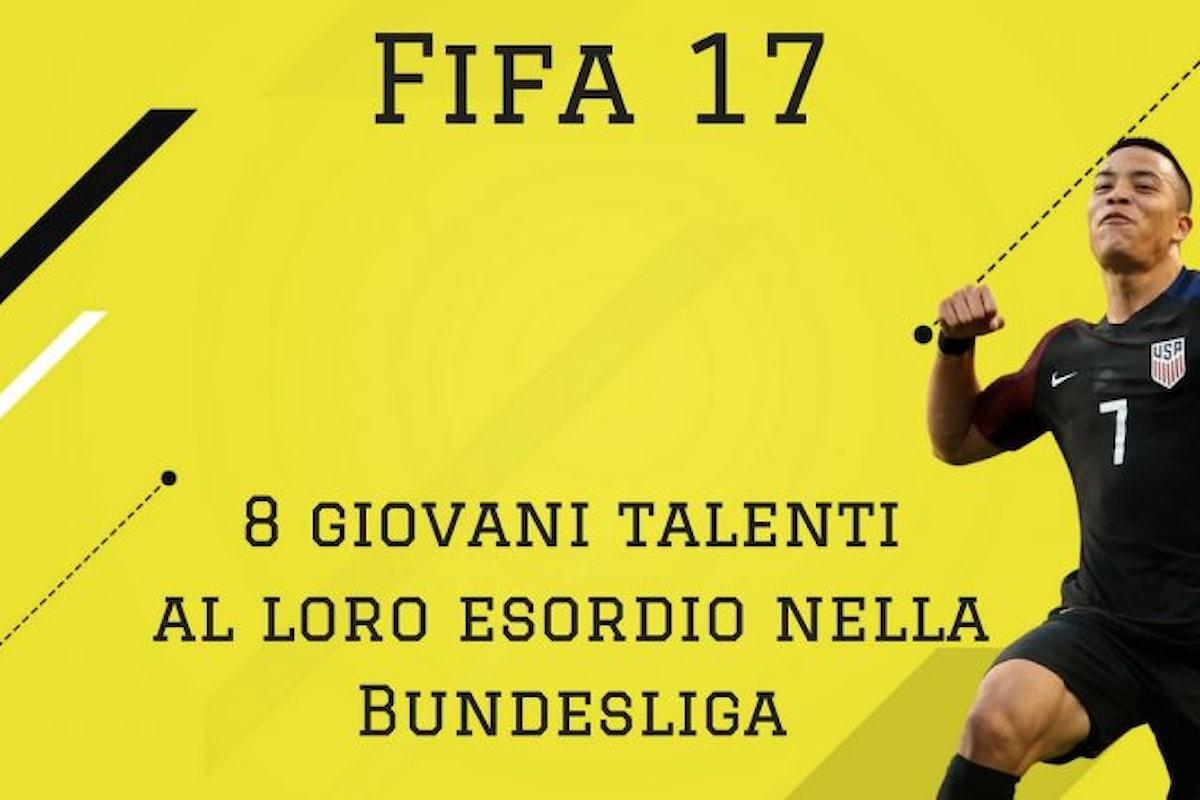 Fifa 17: I migliori giovani talenti al loro esordio in Bundesliga