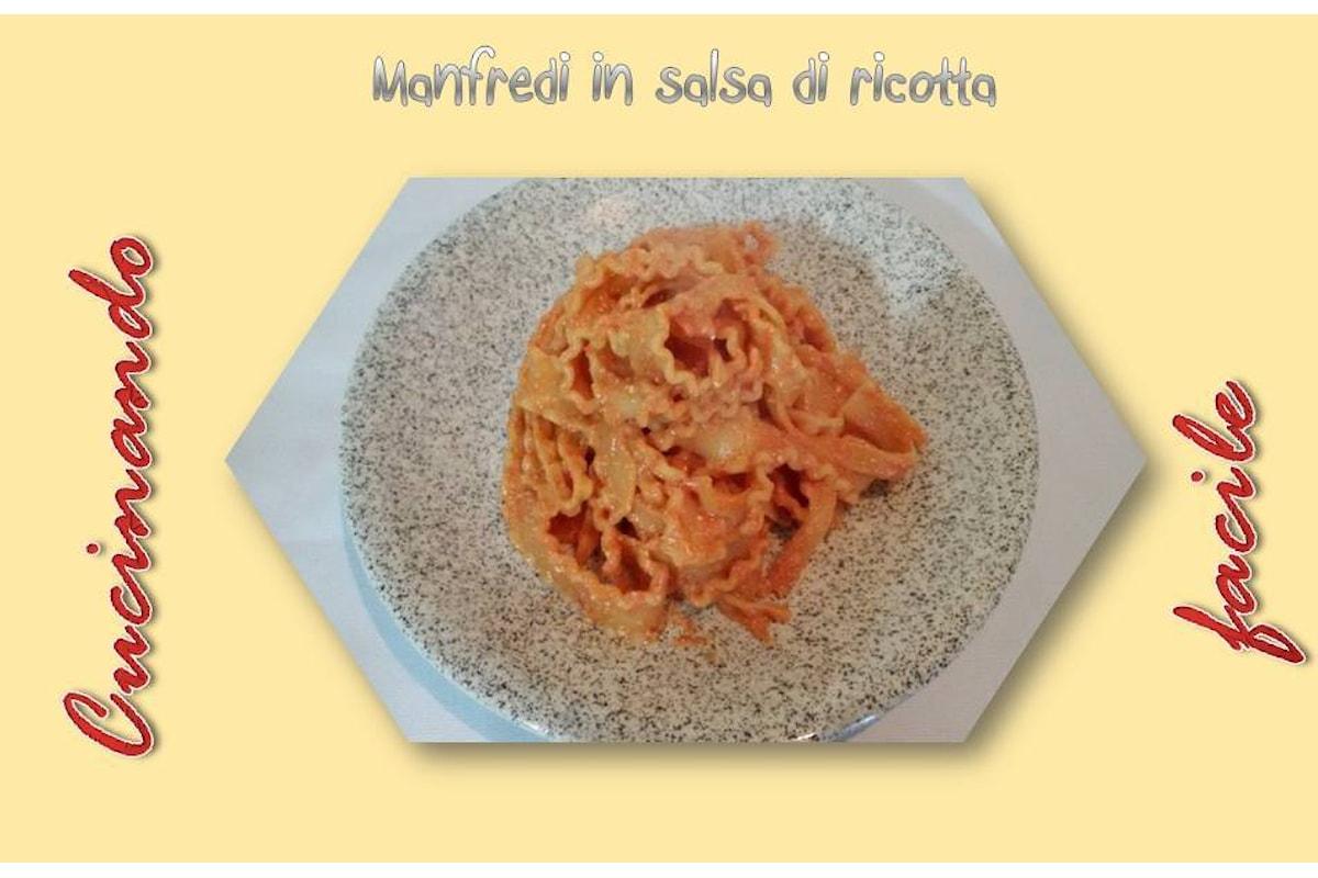 RICETTE - Salsa di ricotta con Manfredi