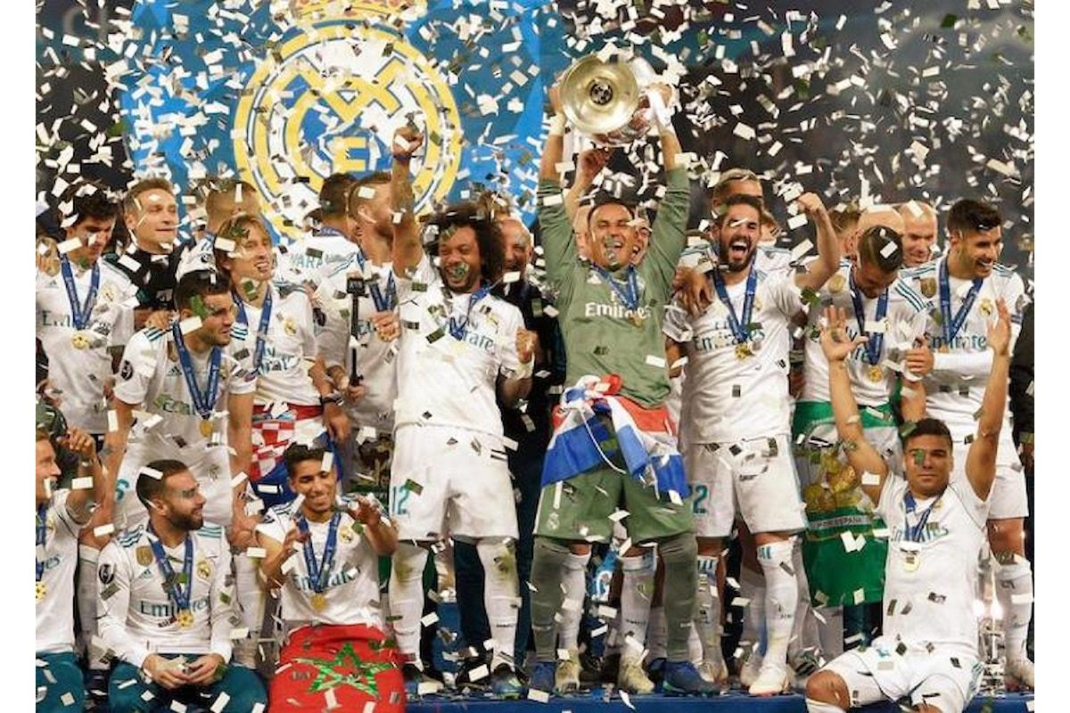 Il Real Madrid vince anche l'edizione 2017/2018 della Champions League, la terza di fila