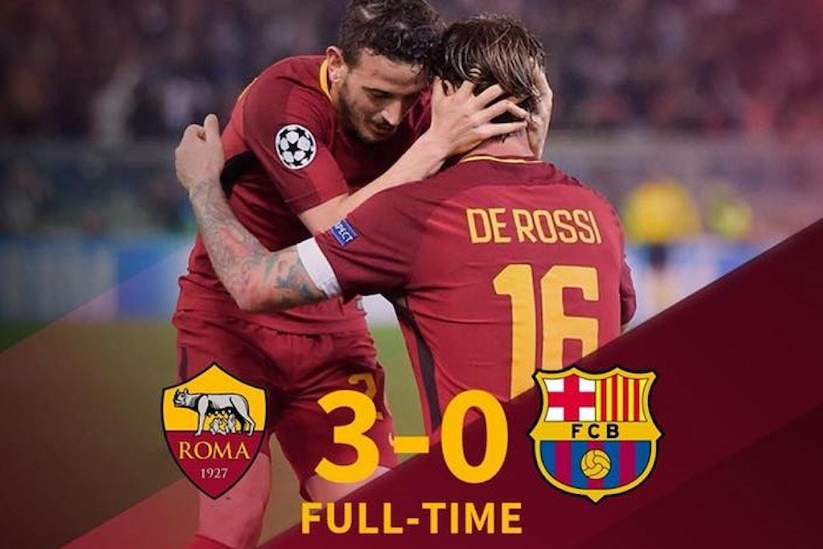 Champions League 2018, la Roma va in semifinale per non aver avuto timore del Barcellona