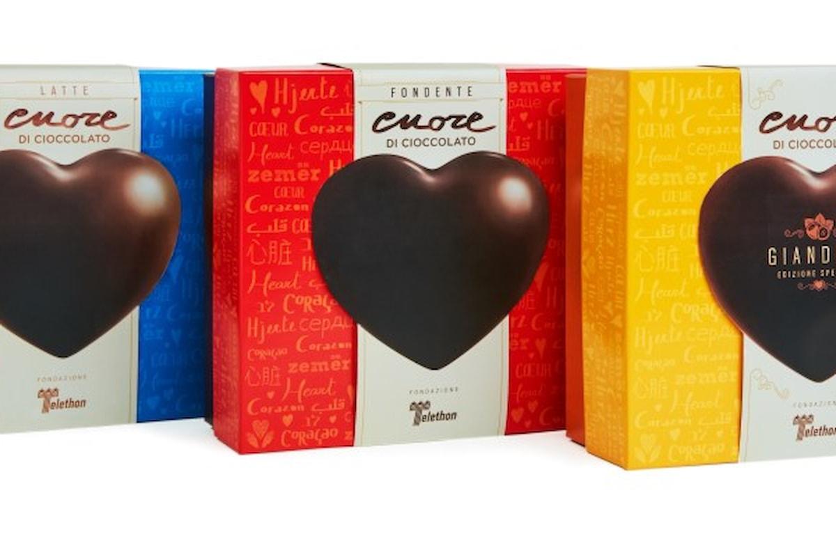 Il Cuore di cioccolato della Fondazione Telethon, sabato 16 e domenica 17 dicembre nelle piazze italiane