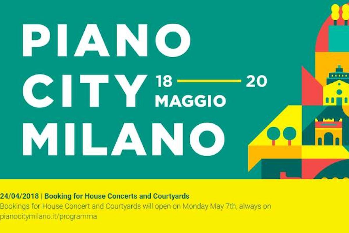 Dal 18 al 20 maggio Piano City Milano 2018